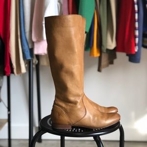 Frye boots in golden brown leather